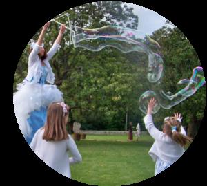 animation bulles échasse Bordeaux Gironde