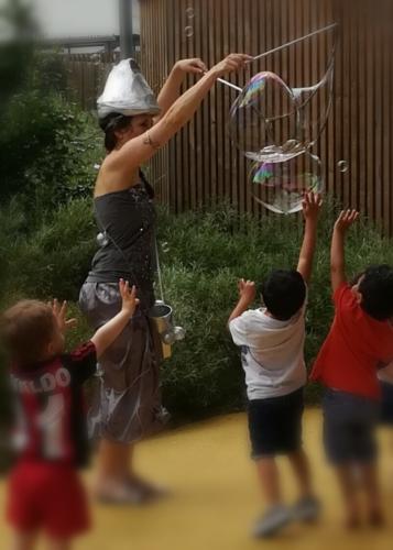 animation bulles de savon géantes jeune public