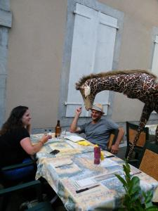 La girafe à table déabulation Gironde