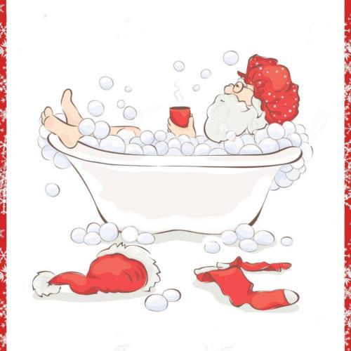 père-noël-après-le-travail-se-détendre-dans-un-bain-avec-une-tasse-de-boisson-chaude
