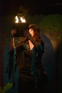 sorciere feu spectacle enfant Gironde